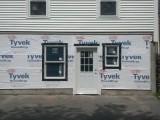 tyvec, windows and door